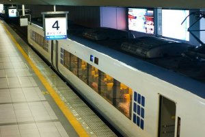 Japan Rail (JR)'s Haruka is the fastest and most comfortable way to travel from Kansai Airport to Shin Osaka