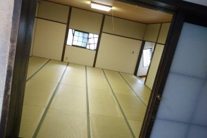 Try walking up this tilted room (not using the handrail) and you are sure to be qualified as a real ninja