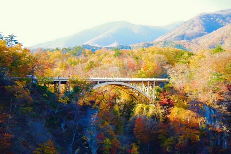 Aperçu de la gorge et le pont depuis le quai du centre des visiteurs