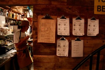 <p>It&#39;s all about detail at Port of Call, so even the lunch menu hanging on the wall is carefully placed</p>