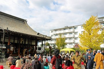 <p>The garden of Jyunmyoji Temple was a fun and unusual location for a jazz concert</p>