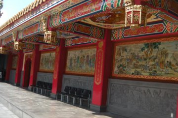 Bright colors of traditional Taiwanese style