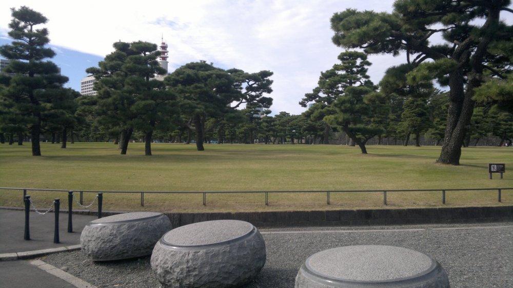 สวนสาธารณะแห่งชาติโคะเคียว ไกเอ็น สวนที่เป็นลานกว้างสำหรับบุคคลทั่วไป