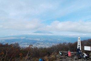 Mt Fuji off in the distance, taken from Mt. Kintoki