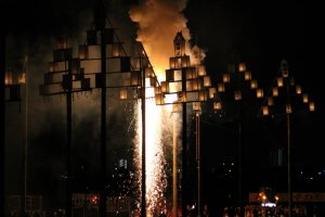 les feux partent vers le ciel
