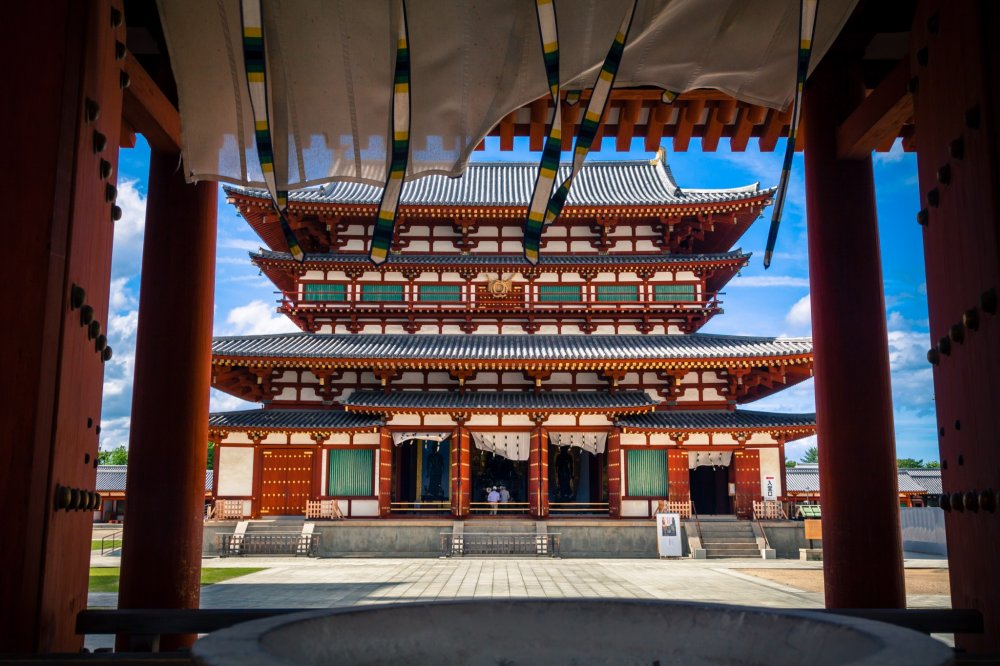 Yakushiji Temple main hall, a reproduction after the original was destroyed in a fire