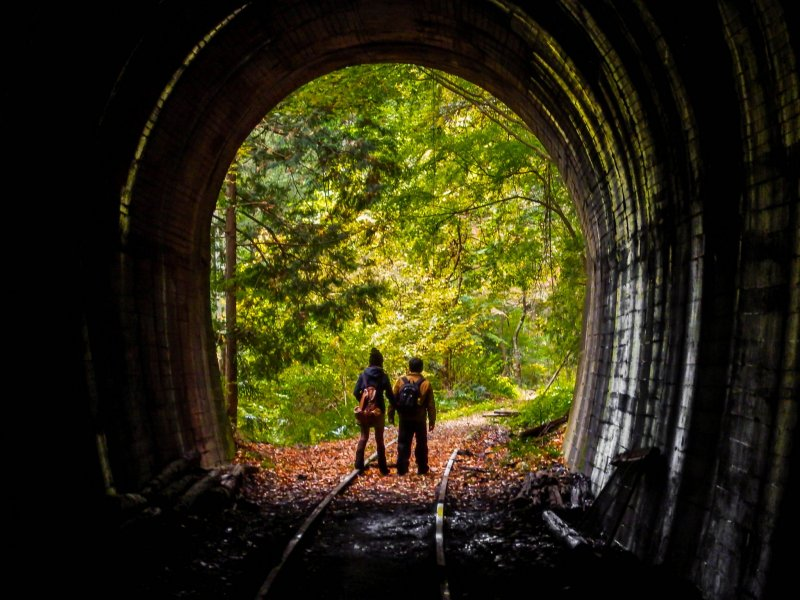 <p>Whilst it is possible to walk through this tunnel, expect to get a little wet as it is constantly dripping with water!</p>