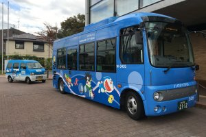 There are 4 different shuttle buses operating from Noborito Station. They cost ¥210 one-way.