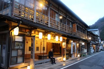 <p>The rustic hot spring inns (onsen ryokan in Japanese) of Dorogawa Onsen await those who complete the hike</p>
