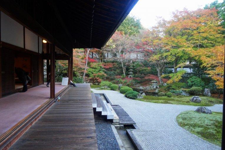 ใบไม้เปลี่ยนสีที่ Sennyu-ji