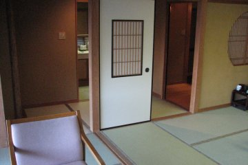 <p>Looking toward the bathroom and the room entry way.</p>
