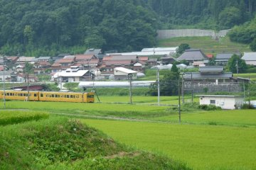 the local train heading into central Nichinan
