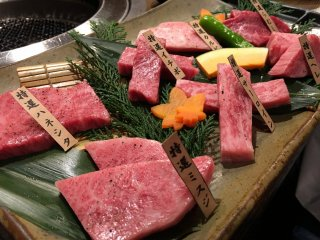 I ordered the 14 dish course set that includes an assortment of cuts from various parts of a cow.