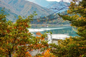 <p>From one of the nearby mountain valleys its possible to see this huge lake from far away</p>