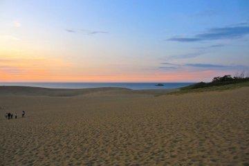 Sundown on the dunes