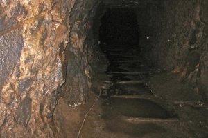 The remains of Okubo Mabu's ore cart tracks