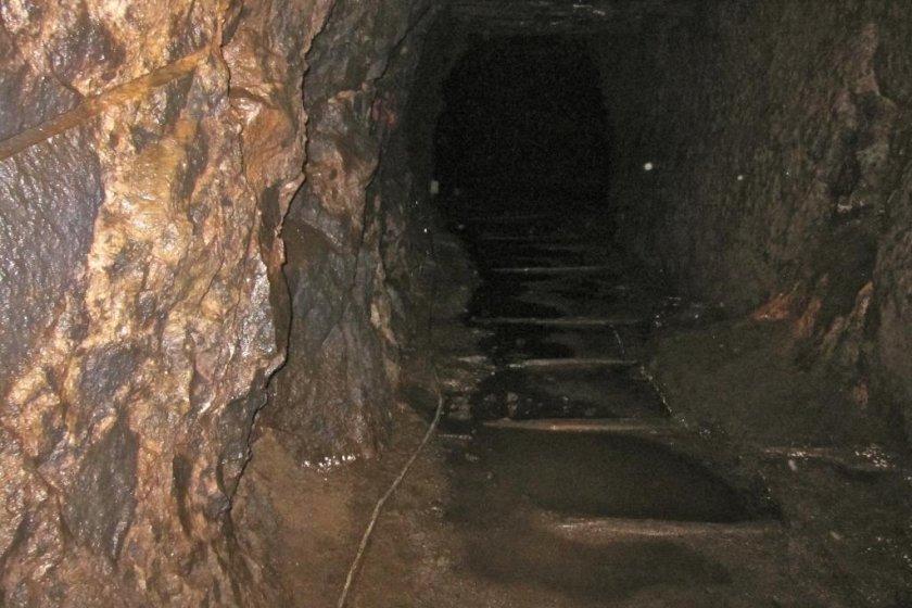 The remains of Okubo Mabu\'s ore cart tracks
