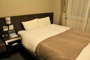 Dormy Inn Kagoshima has double rooms and twin rooms