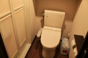 Every room has a washlet toilet