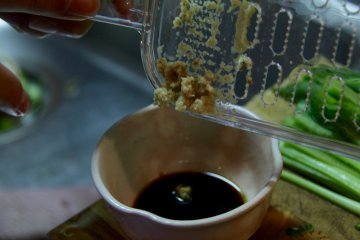 <p>Ginger and soy sauce</p>