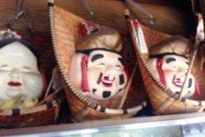 Takeri's traditional Japanese folk dolls.
