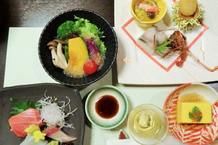 Dining at the 'Mount View Hakone'