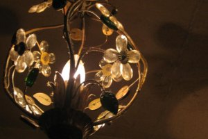 Lovely lighting, C'est La Vie Interior above our table