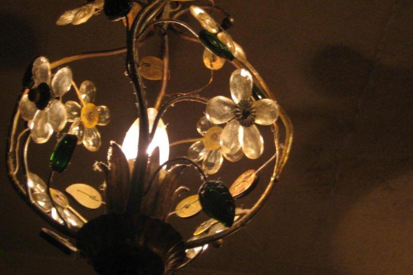 Lovely lighting, C\'est La Vie Interior above our table