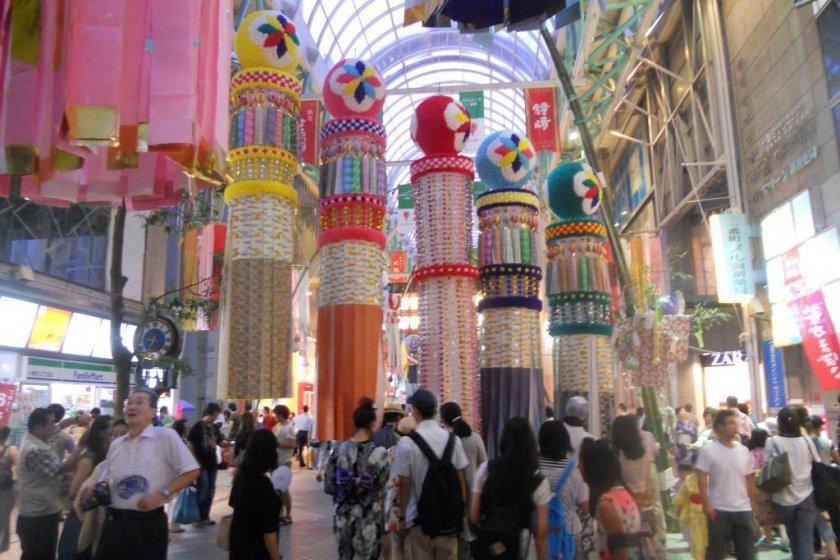 Tradtional Kushidama at Sendai Tanabata