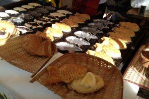 Taiyaki fishes.