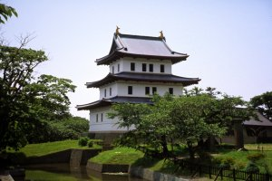 Matsumae Castle is the northernmost castle in Japan