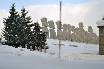 Makomonai Takino Cemetery on the way back from Takino Snow World
