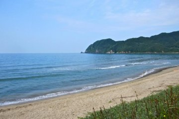On Higashi Hama Beach. I had it all to myself