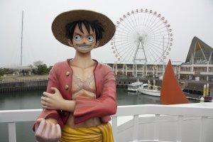 Monkey D. Luffy บนดาดฟ้า เรือ Thousand Sunny
