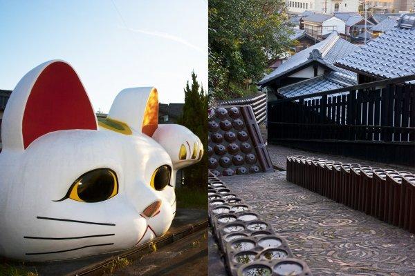 โทโกนาเมะ (Tokoname) จ.ไอจิ เป็นชุมชนเครื่องปั้นดินเผาโบราณและแหล่งผลิตแมวกวักเลื่องชื่อของญี่ปุ่น