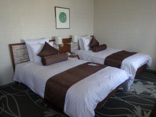 Les chambres ont des lits simples ou doubles