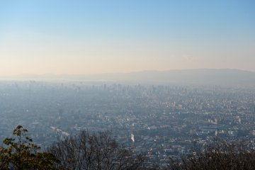 <p>Downtown Osaka in the wes</p>
