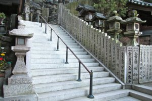 The stairs leading to the central temple yard