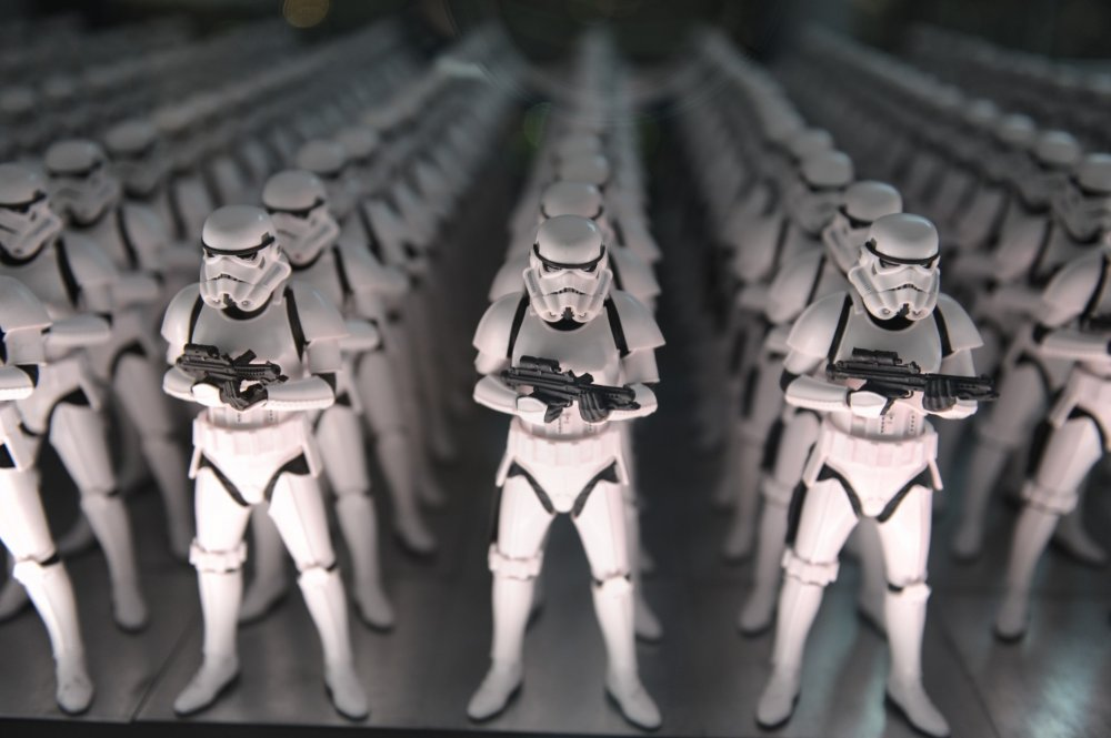 Stormtrooper figurine exhibit