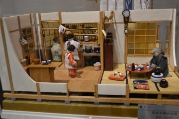 The Japanese household model at the temporary exhibit