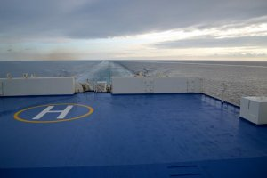 Another view from the rear deck, where passengers are welcome to relax in the open air