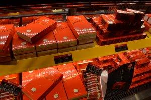 กล่องที่ออกแบบดูสวยหรู แตกต่างจาก KitKat ทั่วไปที่ขายตามท้องตลาด