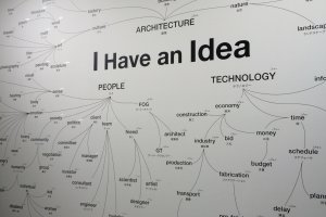 An idea map of Frank Gehry's mind.