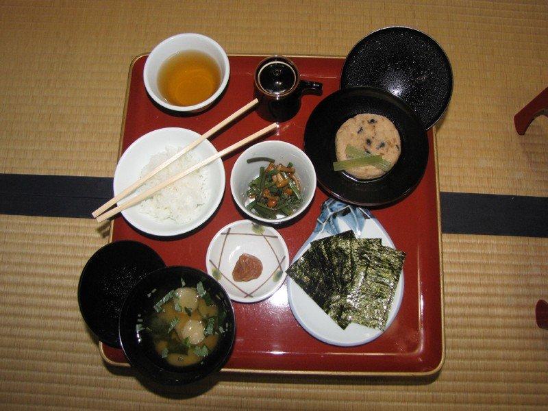 Desayuno shojin ryori en el Templo Ekoin, Monte Koya