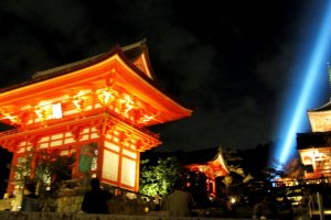 Kiyomizu Temple marks the start of the illuminations, which surround this ancient city with a fairy tale glow in spring