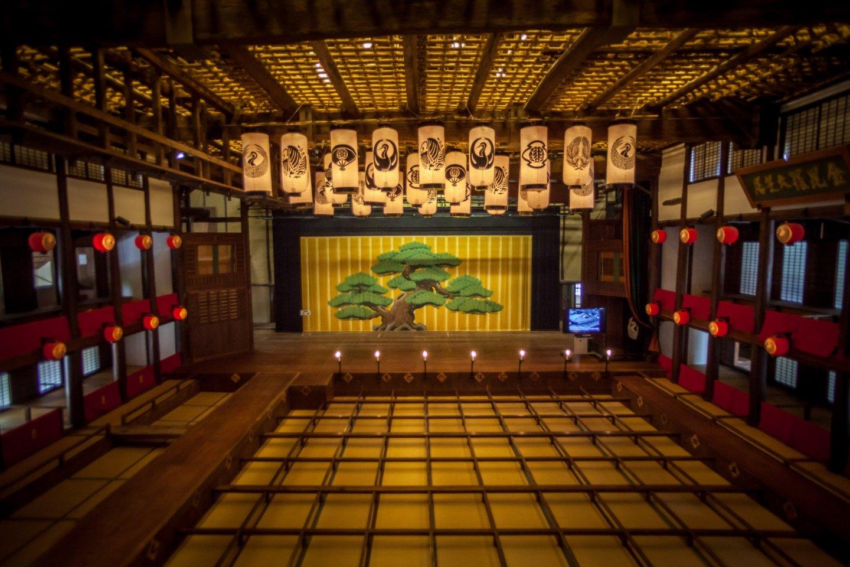 La scène du Grand Théâtre Konpira à Kotohira