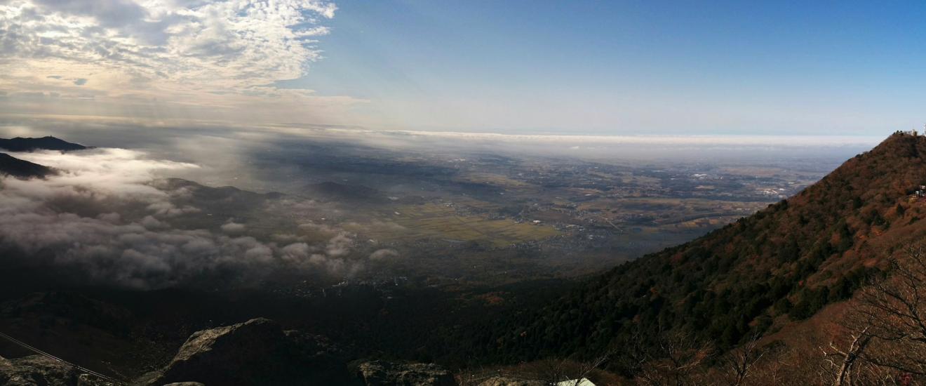 Quang cảnh nhìn từ đỉnh núi Tsukuba
