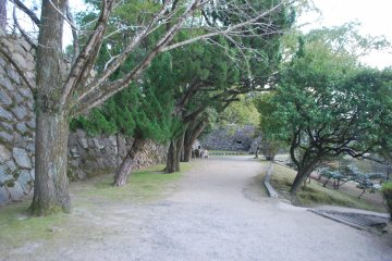 Path around the castle grounds