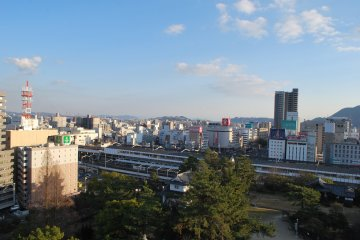 A view of Fukuyama from the top of Fukuyama Castle