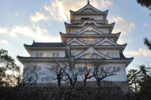 The back side of Fukuyama Castle